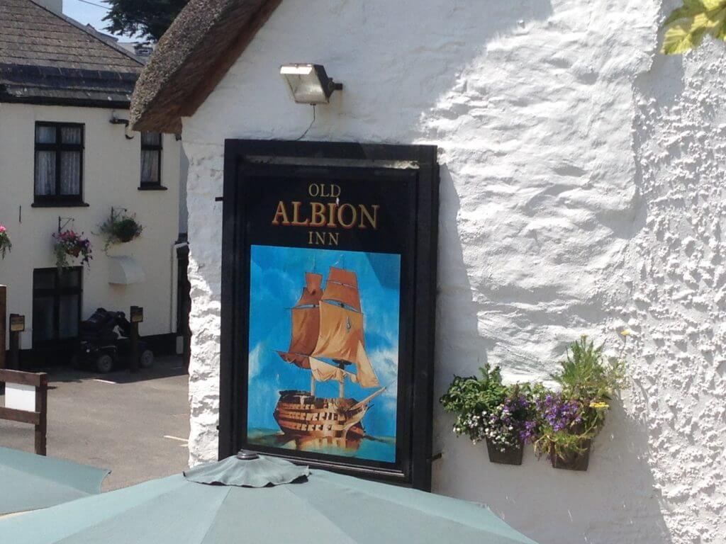 Visit the Old Albion Pub in Crantock